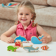 Wooden Sea Life Set  medium