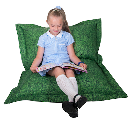 Grass Printed Childrens Floor Cushion  large