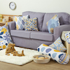 Mixed Pattern Mustard and Grey Cushion Set  small