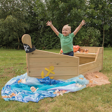 Outdoor Wooden Adventure Boat  medium