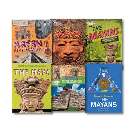 Mayan Book Collection 6pk  large