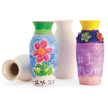 Ceramic Craft Vases 12pk  medium