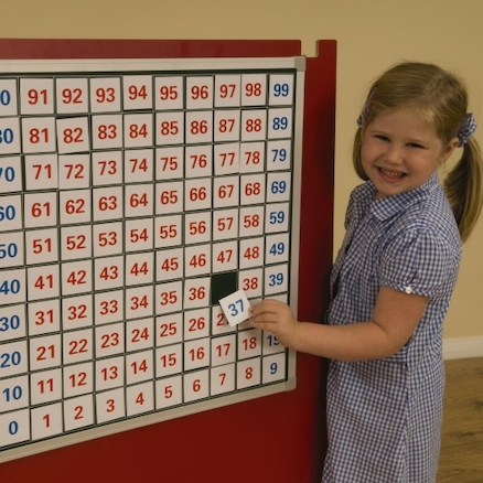 Magnetic Hundred Square Board and Numbers  large