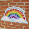 Rainbow Playground Rules School Sign  small