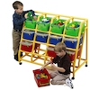 Rainbow 12 Bin Mobile Storage Unit  small