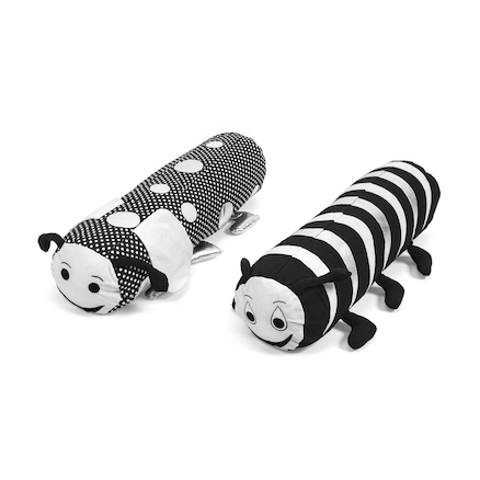 Black and White Bolster Cushions 2pk  large