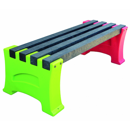 Recycled Plastic Multicoloured Bench  large