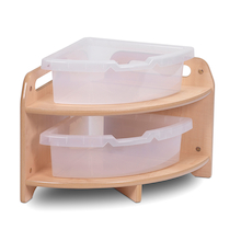 Millhouse Low Corner unit with 2 Clear Tubs  medium