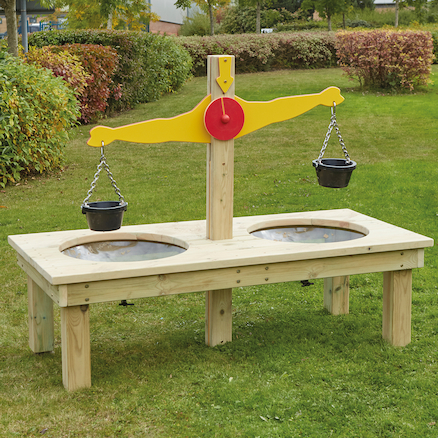 Outdoor Wooden Scales  large