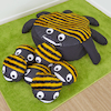 Bee Cushion and 15 Baby Bee Cushions  small