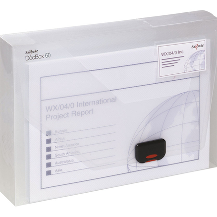 A4 Snopake Clear DocBox Folder  large