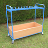 Double Sided Blue Cloakroom Trolley  small