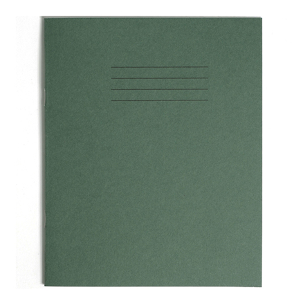 6.25 x 8\'\' Exercise Books D.Green 32 page 100pk   large