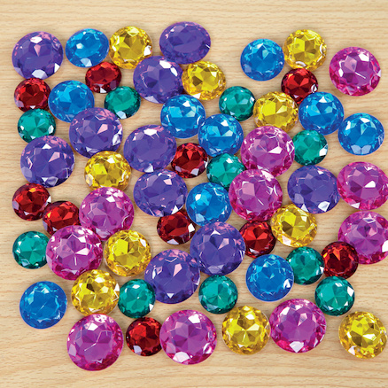 Assorted Size Sparkling Jewel Counters 60pcs  large