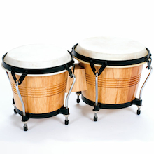 Wooden Shell Bongos With Raised Feet  medium