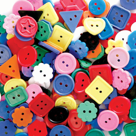 Large Brightly Coloured Craft Buttons 1lb Bag  large