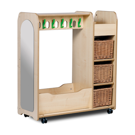 Mobile Wooden Dressing Up Trolley  large