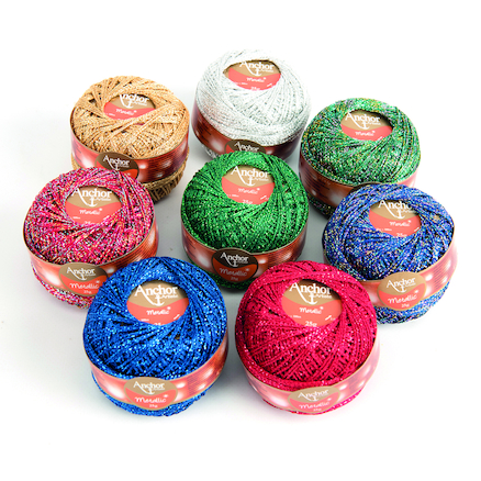 Metallic Decorative \x26 Embroidery Threads 8pk  large