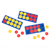 Plastic Ten Frame and 2 Colour Counters 10pk  small