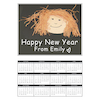 Blank A4 Portrait White Card Calendars 2018 50pk  small