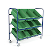 Metal Tilted Tray Trolley with Trays  small