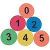 Rubber Number Spots 6pk  small