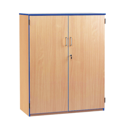 Coloured Edge Lockable Cupboard  large