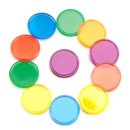 Translucent Coloured Counters 1000pk  large