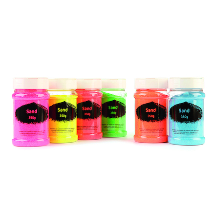 Fluorescent Coloured Sand Assortment 6pk 112g  large