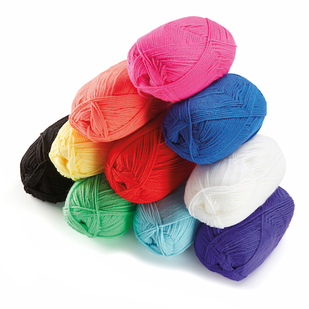 Double Knit Craft Yarn Assorted 100g 10pk  large