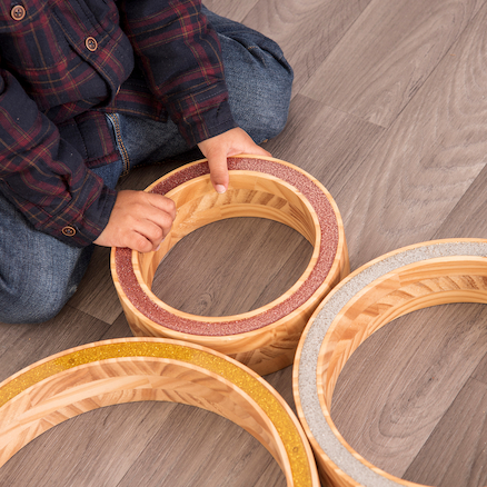 Wooden Sparkle Nesting Rings  large