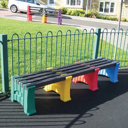 Recycled Plastic Coloured Bench Four Seater  large