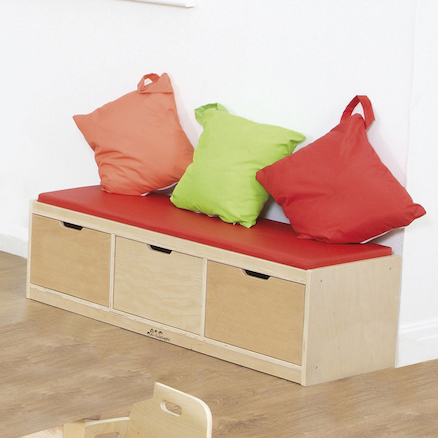 Three Drawer Indoor Storage Bench  large