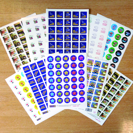 Assorted Mini Praise Stickers  large