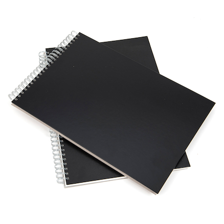 Pisces Black Spiral Sketchbooks A3 140gsm  large