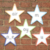 Letter \x26 Sounds Outdoor Stars  small