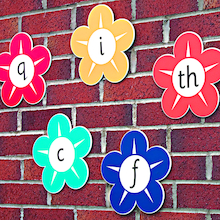 Alphabet Playground Flower Signs   medium