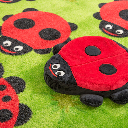 Chloe the Caterpillar Outdoor Rug and Cushions  large