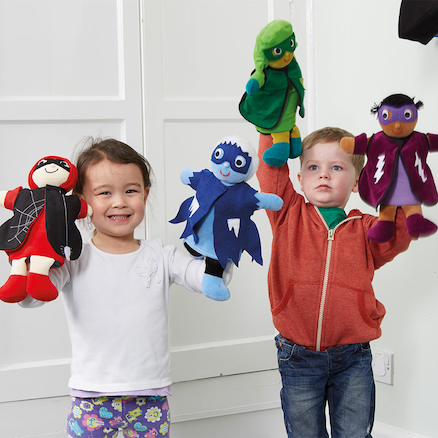 Role Play Superhero Puppets 4pk  large