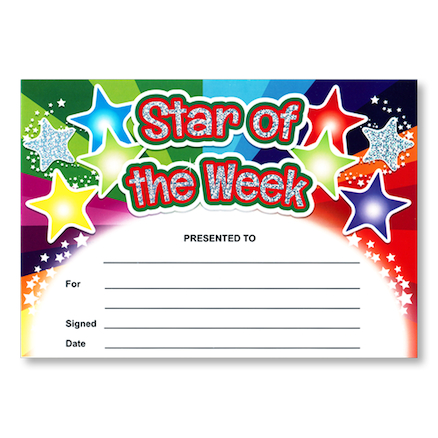 Star of the Week Certificate  large