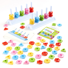 Pair of Colour and Shape Sorting Abacuses 126pcs  medium