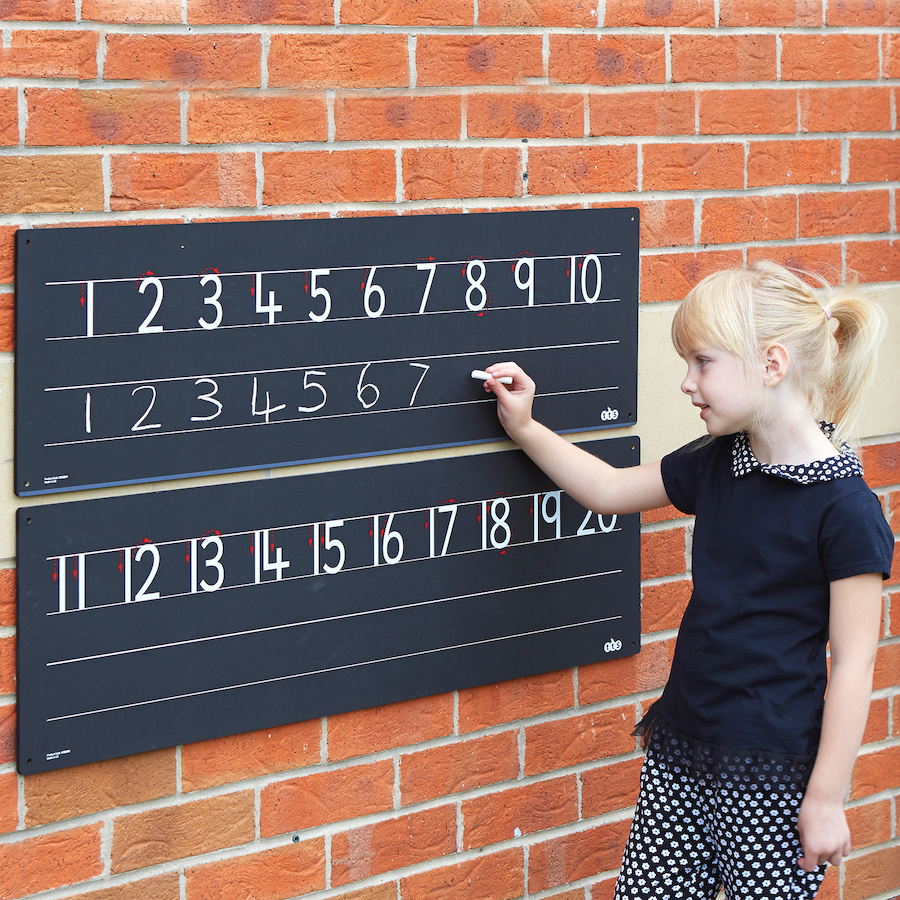 ... Outdoor Chalkboard Number Line 1 20 Small
