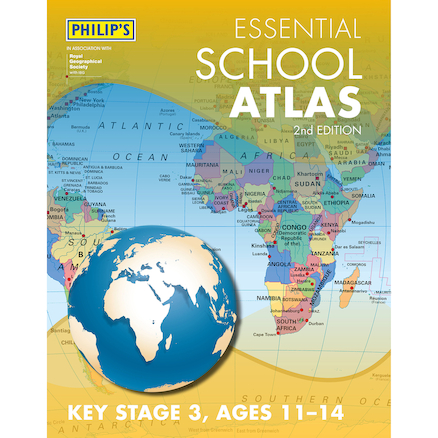 Philip\'s Essential Atlas UKS2 \/ KS3  large