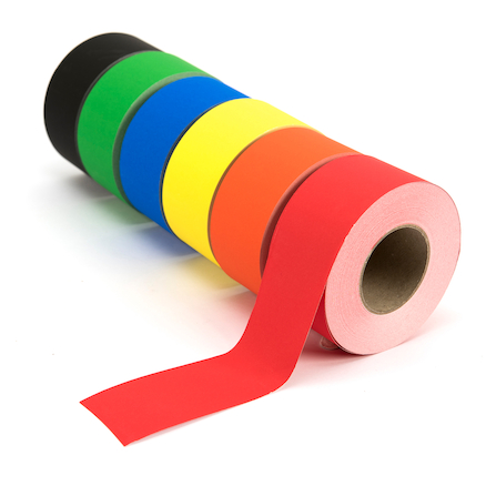 Assorted Straight Cut Paper Border Rolls 50m 6pk  large