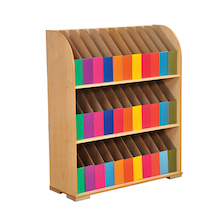 Bookcase with 33 Curriculum Coloured Boxes  medium