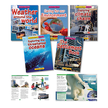 Weather and Climate Change Books and CDs 5pk  medium