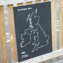 British Isles Outdoor Chalkboard  medium