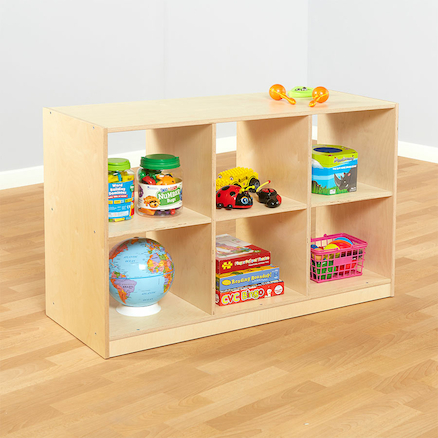 Essentials Indoor Wooden Six Compartment Bookcase  large