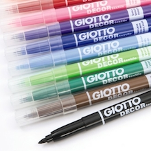 Giotto Water Based Assorted Fabric Markers  medium