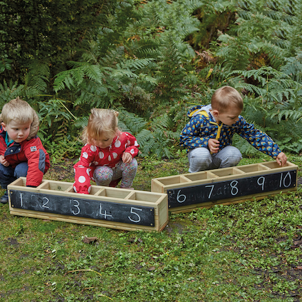 Wooden Outdoor Number Troughs  large